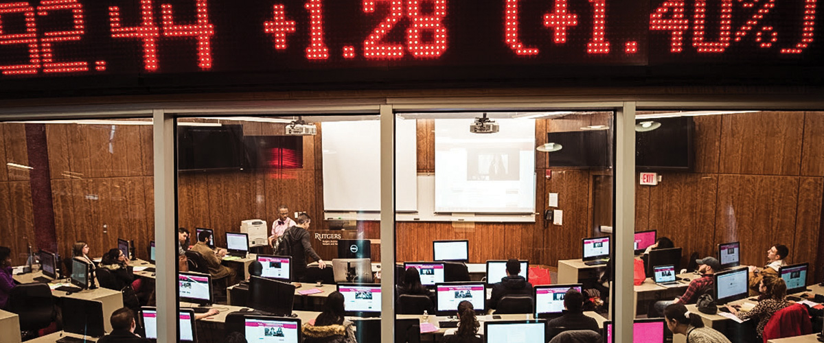Rutgers Business School Trading Room